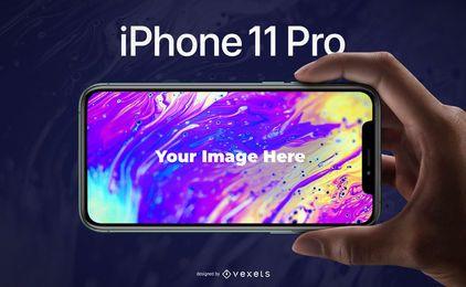 Modelo de PSD maquete iPhone 11