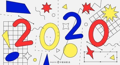 Desenho de fundo colorido abstrato de 2020