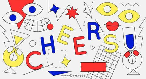 Cheers abstract new year background
