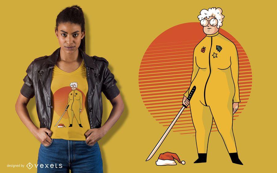 Sra. Santa Paródia T-shirt Design