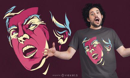 Diseño de camiseta espeluznante de Trump