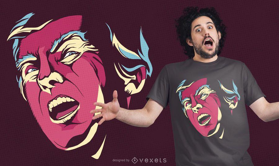 Design de t-shirt assustador Trump