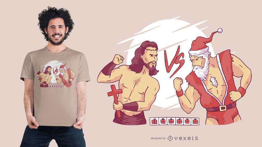 Weihnachtskombat-T-Shirt Entwurf