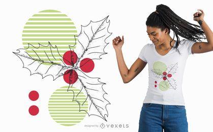 Diseño de camiseta de muérdago