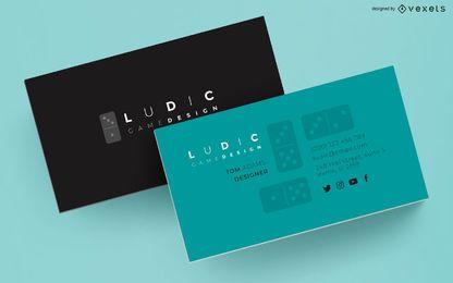 Design de dominó de cartão de visita