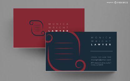 Anwalt Visitenkarte Design