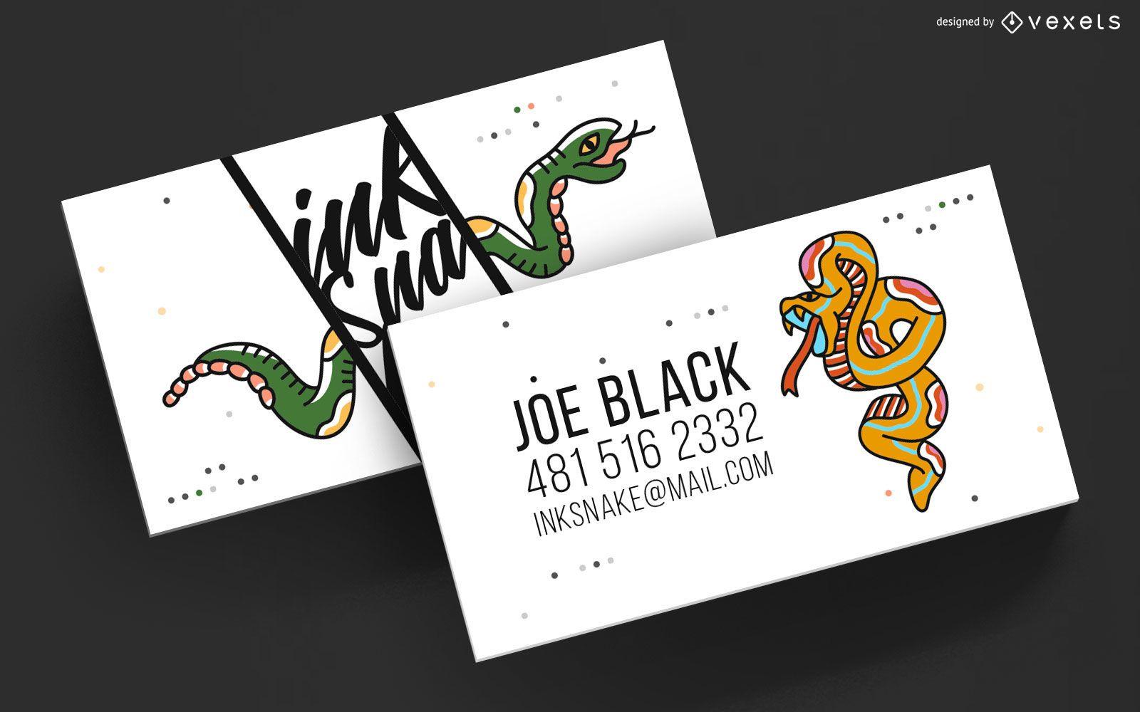 Business Card Tattoo Artist Template
