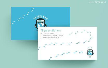 Plantilla de tarjeta de visita de agencia de viajes