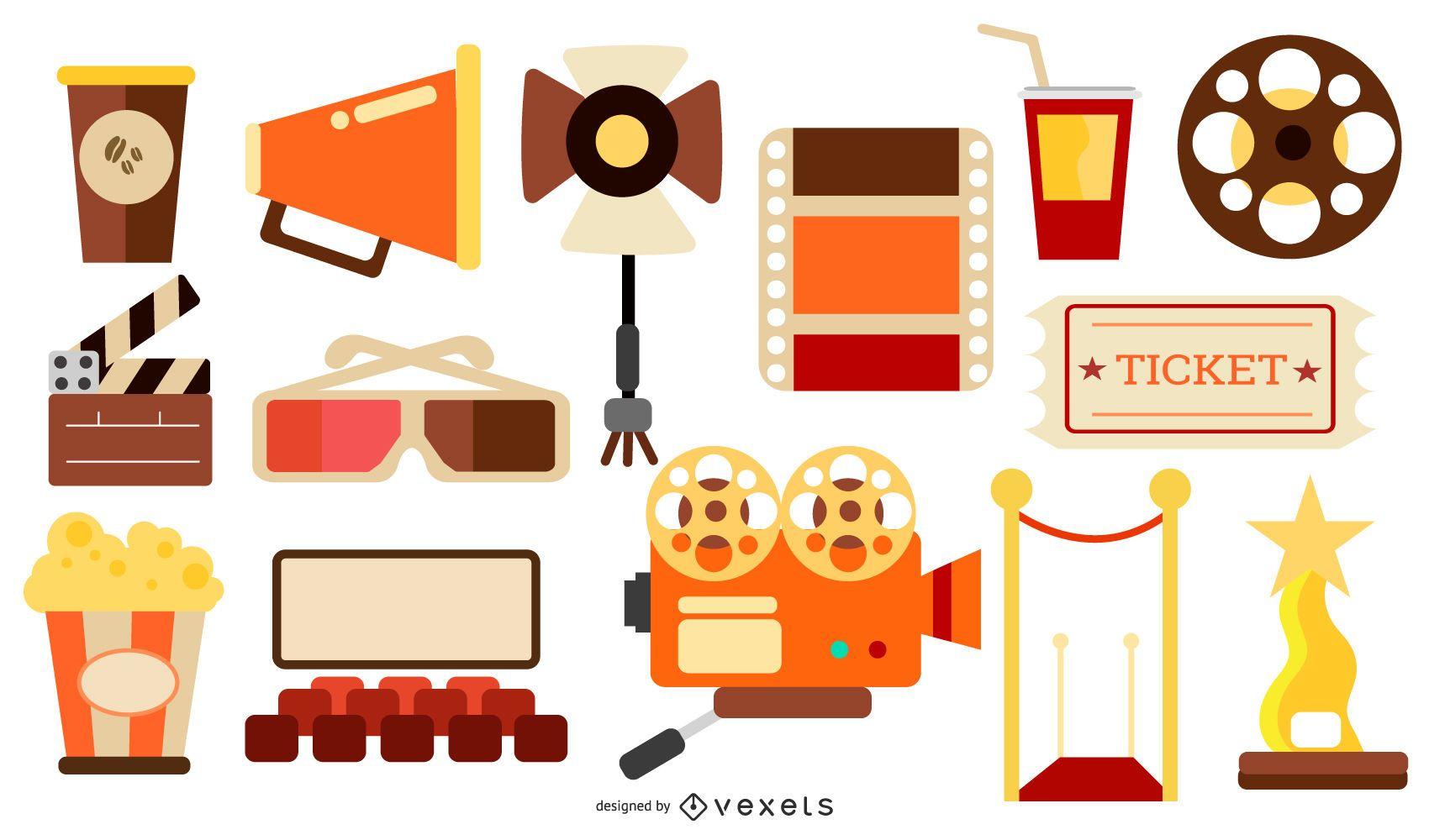 Cinema Elements Flat Design Pack
