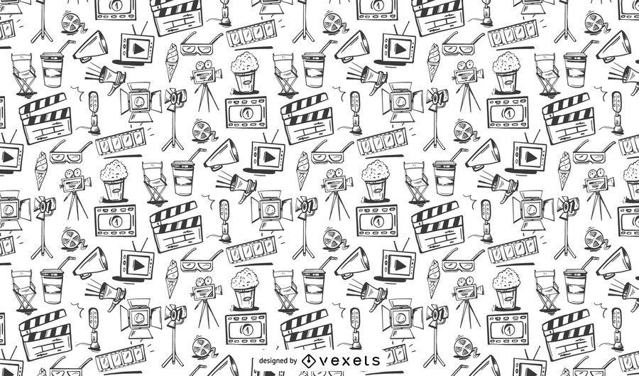 Design de padrão de elementos de cinema