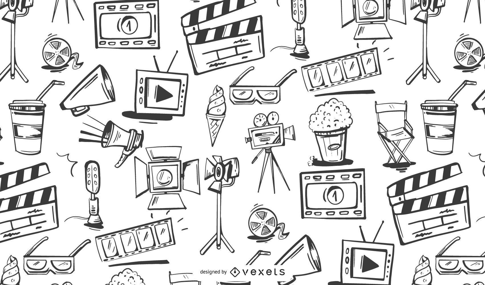 Filmmaking Elements Pattern Design