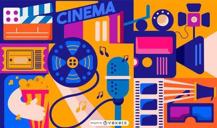 Design de composição de elementos de cinema