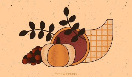 Thanksgiving cornucopia illustration