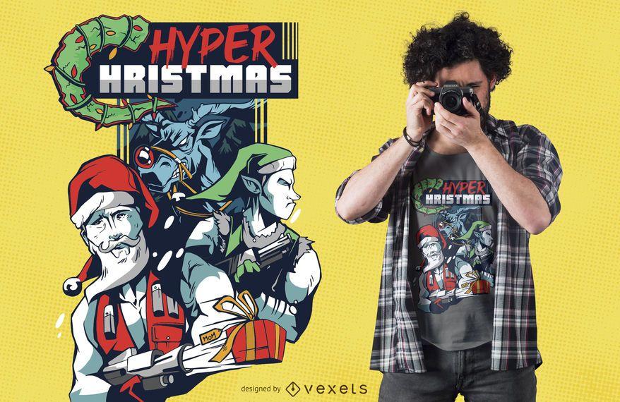 Hyper Weihnachtst-shirt Entwurf