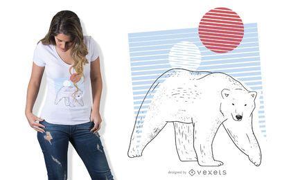 Diseño de camiseta de oso polar