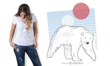 Polar bear t-shirt design
