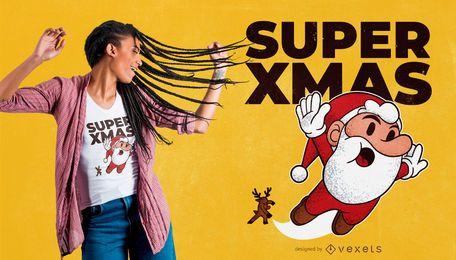 Design de camiseta super natal