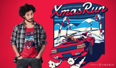 Design de camiseta de corrida de Natal
