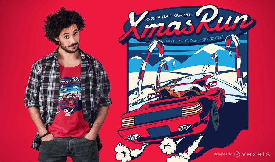 Xmas run t-shirt design