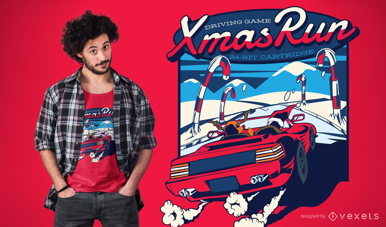 Diseño de camiseta Xmas Run