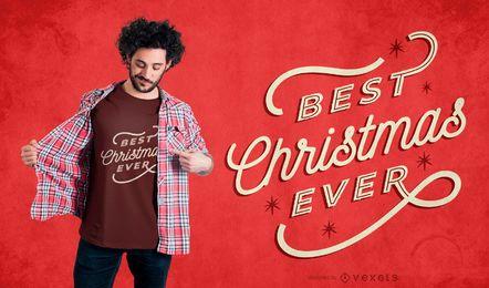Melhor design de camiseta de natal