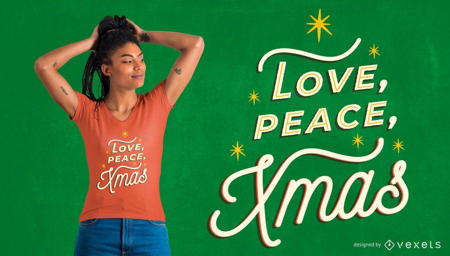 Love peace xmas t-shirt design
