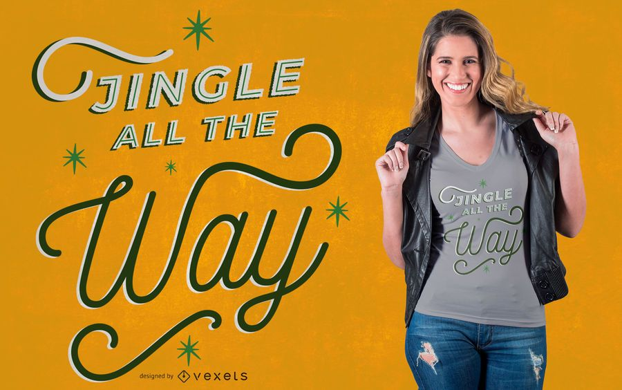 Jingle christmas quote t-shirt design
