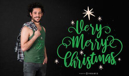 Sehr T-Shirt Entwurf der frohen Weihnachten