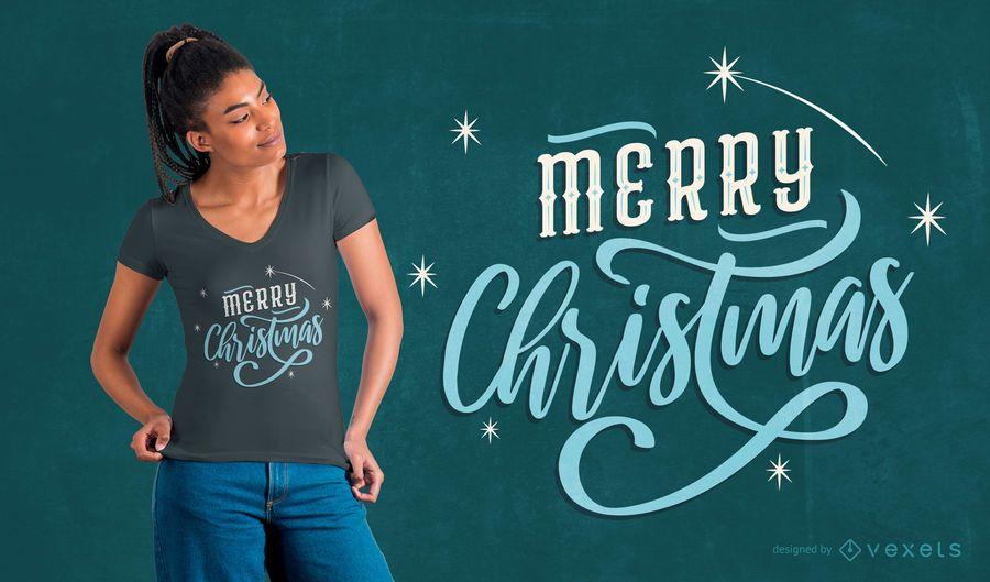 Design de t-shirt de letras de Natal
