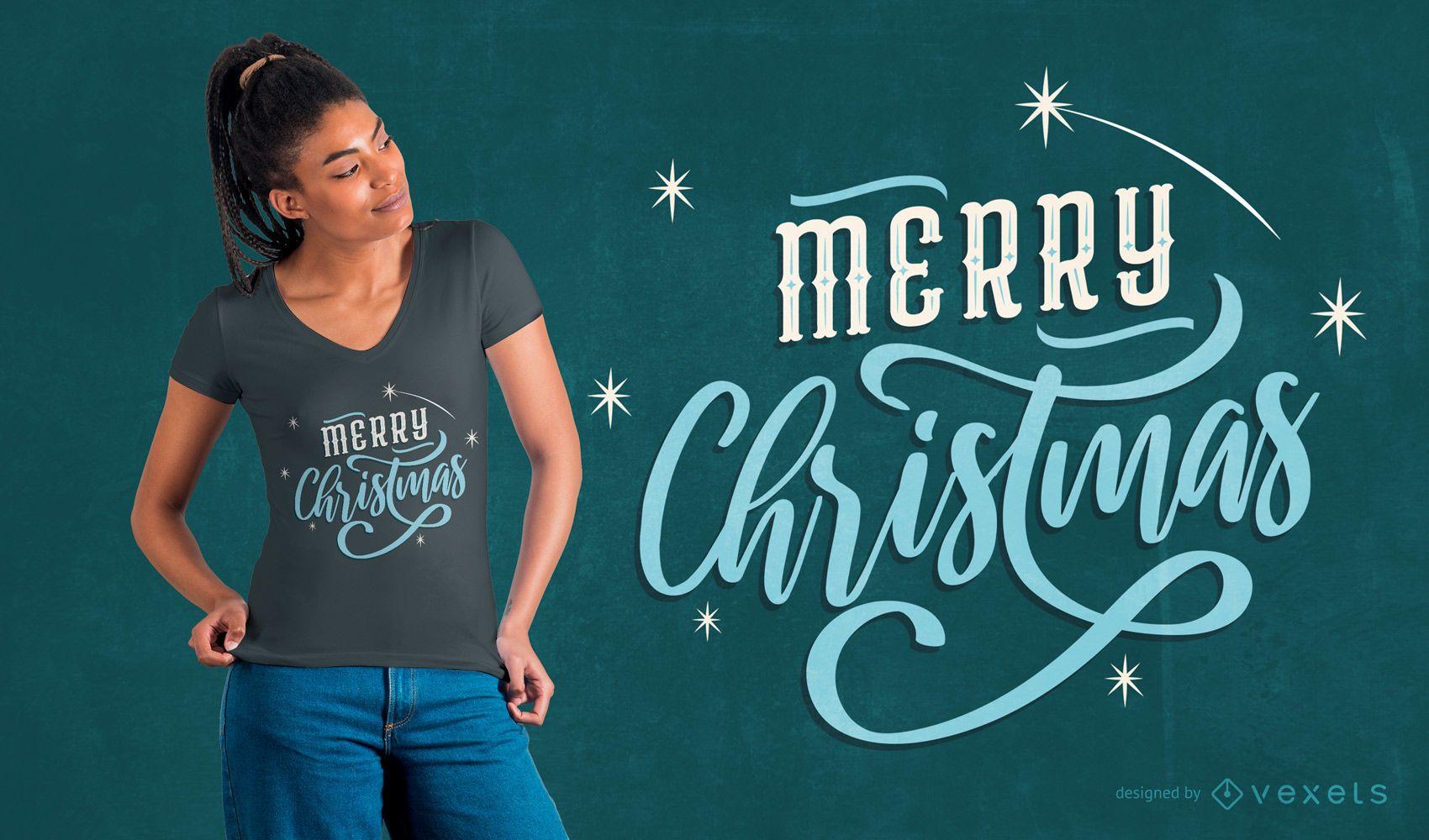 Christmas lettering t-shirt design