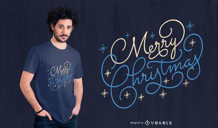 Diseño de camiseta de cotización de feliz Navidad