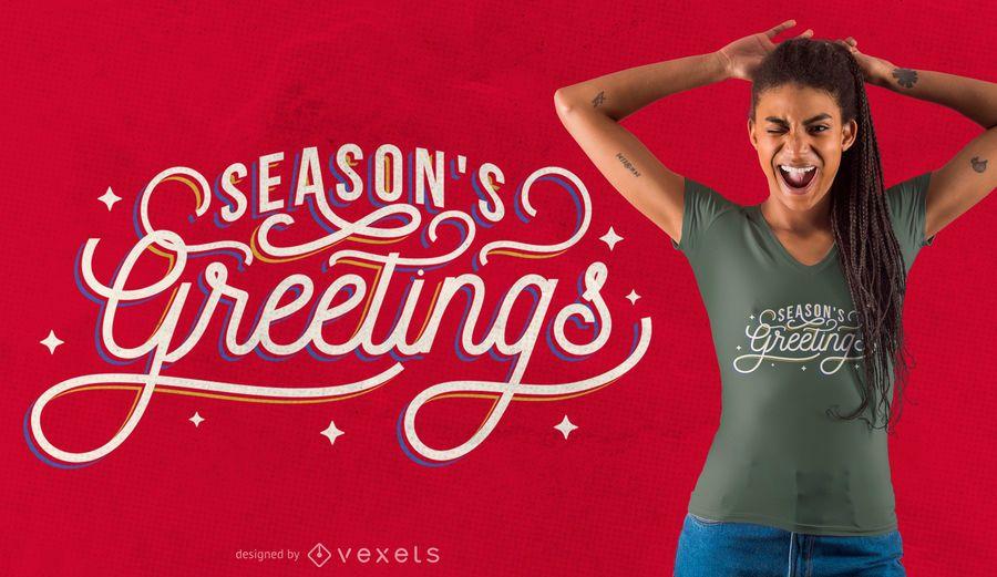 Xmas greetings t-shirt design