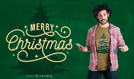 Diseño de camiseta de cita de árbol de Navidad