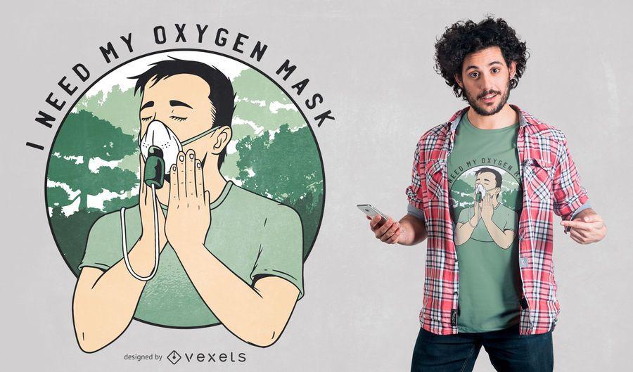 Funny Oxygen Mask T-shirt Design