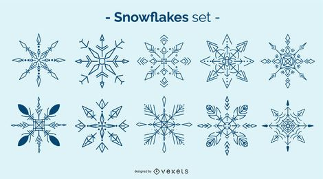 Pacote de Design de floco de neve