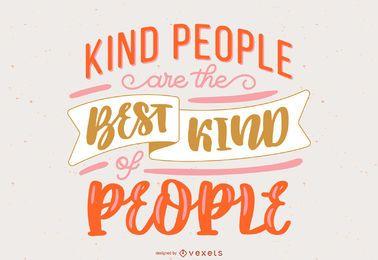 Kind People Handwritten Lettering Design
