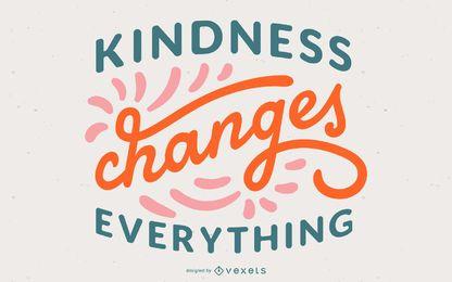 Design de citação de letras de gentileza