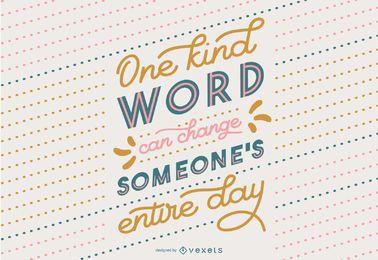 Design de estilo de letras de citação de bondade