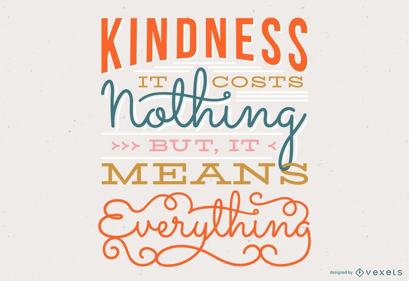 Diseño de letras de cita de bondad
