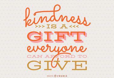 Design de letras de caligrafia de bondade