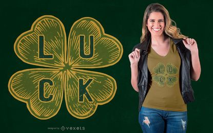 Four-leaf Clover Luck T-shirt Design