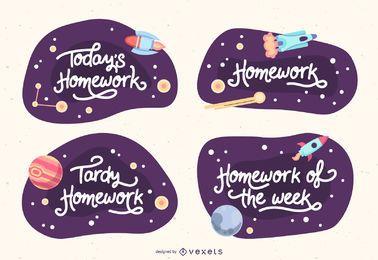 Diseños de banner de espacio de aula