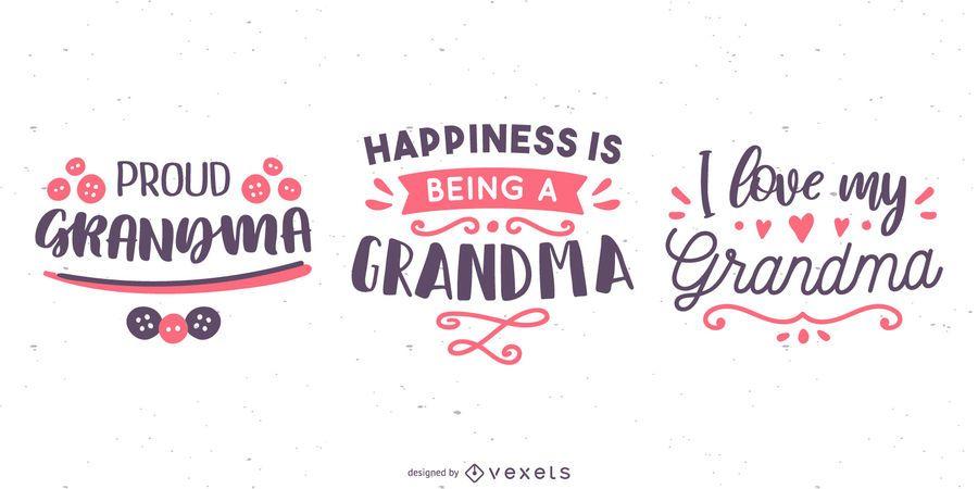 Avó Lettering Banner Set