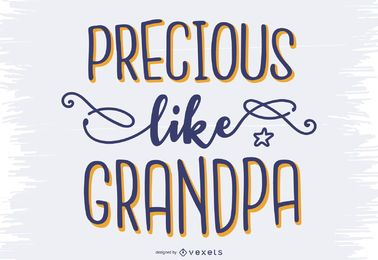 Design de letras adorável vovô