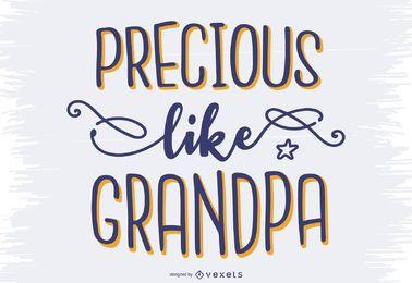 Diseño de letras de abuelo encantador