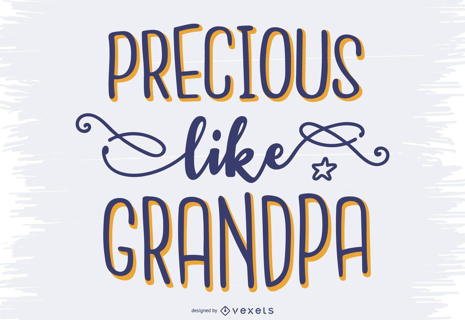 Desenho de letras adorável para vovô
