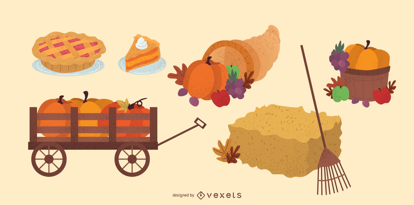Thanksgiving elements pack