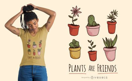 Plants are friends t-shirt design