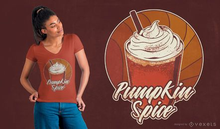 Pumpkin spice t-shirt design