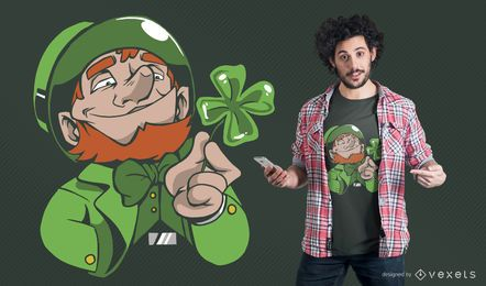 Leprechaun clover t-shirt design
